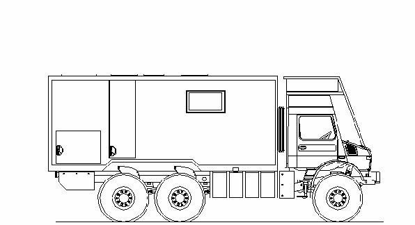 Unimog 6x6 Bauplan